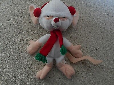 Pinky And The Brain Christmas Bean Bag Warner Bros 1998 Plush Christmas Holiday