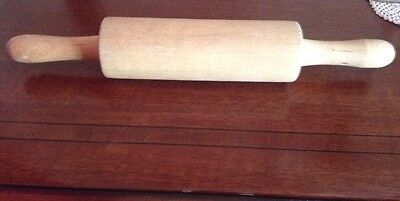 Vintage Wooden Rolling Pin With Handles
