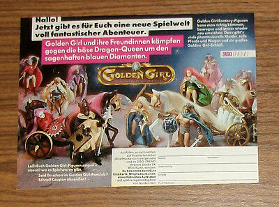 Seltene Werbung GOLDEN GIRL and the Guardians of the Gemstone Dragon Queen 1985