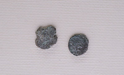 Lot Of 2 Ancient Roman  Coins To Identify /a3