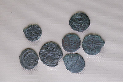 Lot Of 7 Ancient Roman  Coins To Identify /a6