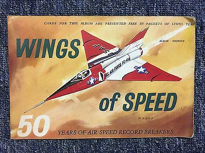 J  Lyons Tea  Picture Cards - Complete Album - Wings Of Speed