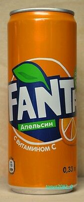 New Fanta soda can 330 ml from Russia 2017