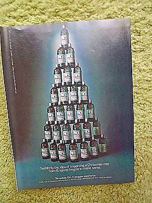 Tanqueray Gin Christmas Tree Playboy 12/83 Black/White magazine print ad
