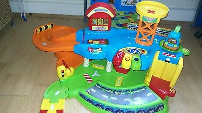 vtech toot toot garage and box of track