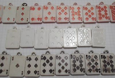 RARE 29 Vtg Plastic Cracker Jack Prize Gumball Playing Card Charms Gamble Casino