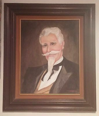 Charles Goodnight? Great folk art portrait painting. Oil on canvas, great frame.