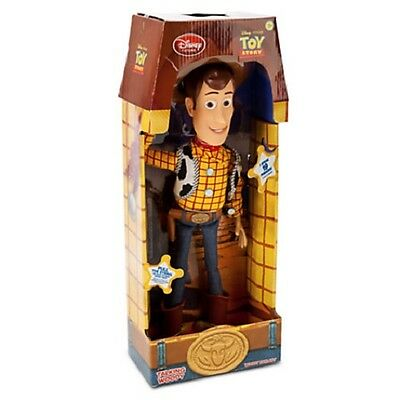DISNEY STORE Exclusive TOY STORY WOODY Pull String Talking Sheriff Doll New