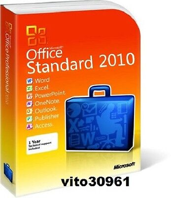 Microsoft Office Standard 2010 Product Key Retail Licenza 1 Pc Nuovo