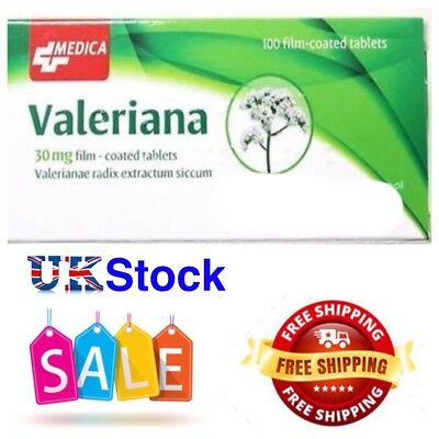 VALERIANA 30mg.100 film-coated herbal tablets(sleeping pils)