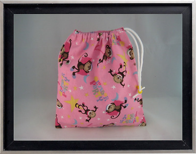 Gymnastics Leotard Grip Bags / Monkey Slumber Party Gymnast Birthday Goody Bag