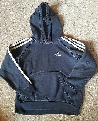 Adidas blue hooded top for boy age 7-8 years old