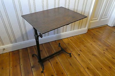 Victorian/Edwardian Over Bed or Chair 2 Castor Adjustable Table