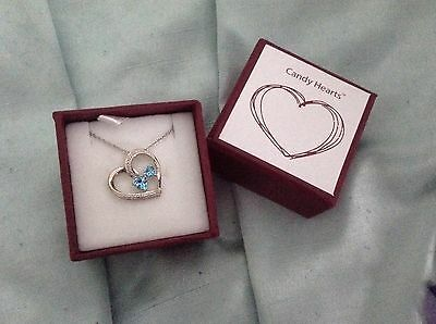 H Samuel - Candy Hearts - Blue Heart Necklace - New In Box - Genuine