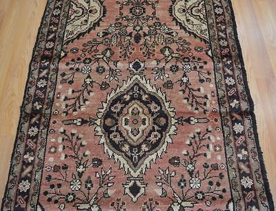 3'6 x 14 Genuine S Antique Persian Hamadan Hand Knotted Oriental Wool Runner Rug
