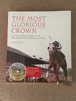 THE MOST GLORIOUS CROWN horse racing book triple Secretariat Affirmed with DVD