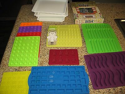 Gummy Bears Worms and Lego Brick Molds