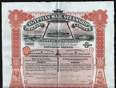 1907 Egypt: The Egyptian Mail Steamship Company – Waterlow & Sons
