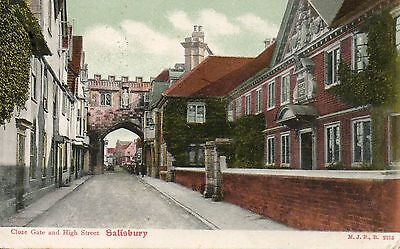 Close Gate and High Street, Salisbury.  Posted 1904