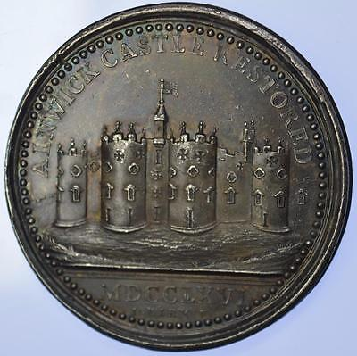 1766 Restoration of Alnwick Castle silver medal by Kirk