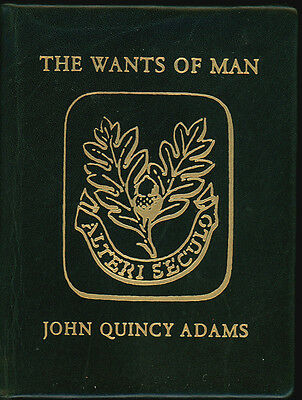 MINIATURE BOOK. John Quincy Adams. WANTS OF MAN. St. Onge. 1962. Ltd. edition
