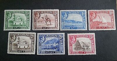 ADEN George VI 1937-51 part set mounted mint low value stamps