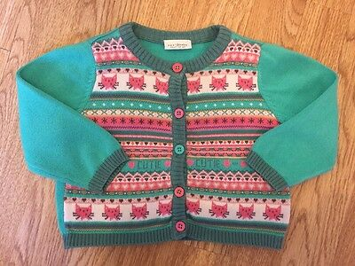 Next Baby Girls Cat Knitted Cardigan 6-9 Months Vgc