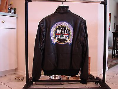 THE WHO / 25th ANNIVERSARY LEATHER JACKET / FULLY EMBROIDERED LOGO