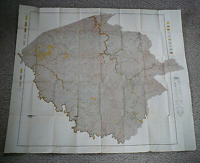 Very Large 1913 Dept. Agriculture Soil Map Logan Mingo Counties West Virginia