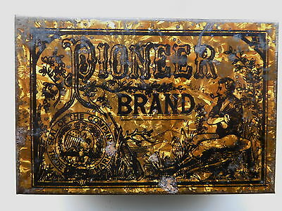 Advertising Tin Pioneer Brand Tobacco Richmond Cavendish Co Limited Liverpool