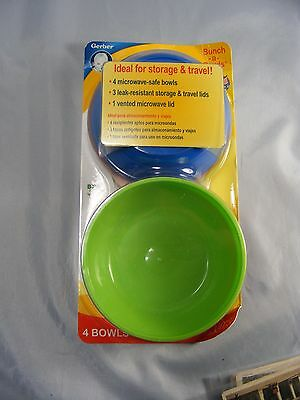 Gerber Bunch A Bowls...Great For Storage & Travel!  (BPA Free)