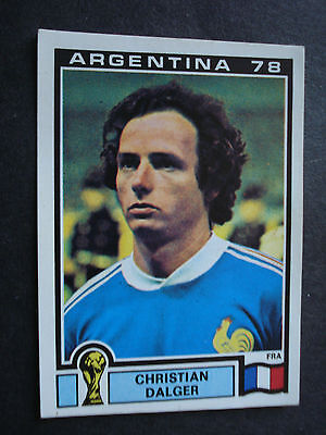 Panini World Cup Mundial Argentina 78 Nr 92 France Christian Dalger  Unused