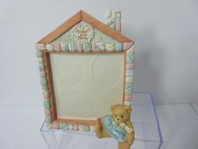Cherished Teddies BLESS OUR HOME 3 Photo/Picture Frame Priscilla Hillman 1994