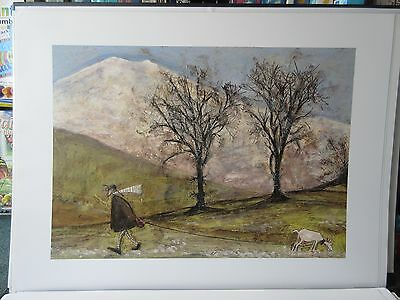 Sam Toft, Walking With Mansfield - Large Quality Art Print 60 x 80 cm