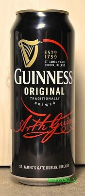 Guinness beer can 480 ml from Russia 2016