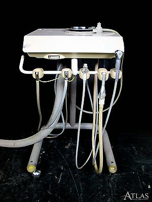 Adec 2561 Dental Mobile Portable Delivery System Cart w/ 2 5-Hole Connections