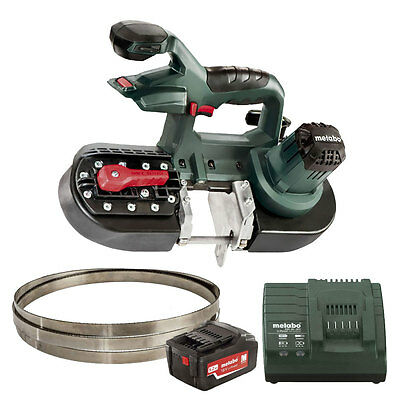 Band Saw (Bare) with 5.2ah Battery & Charger Open Box Metabo MBS18LTX25-X1