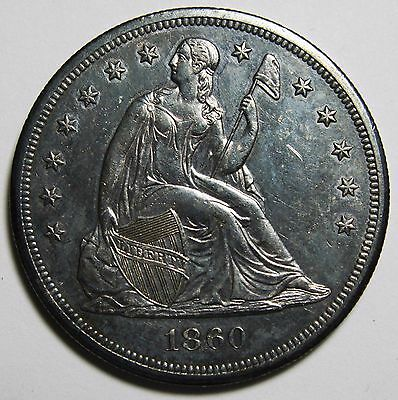 1860O Seated Liberty Silver Dollar $1 Coin Lot# MZ 1034
