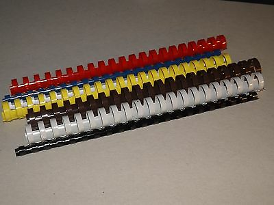 Plastic binding combs various  size / colour and quantity 21ring