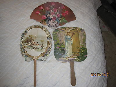 old hand fans