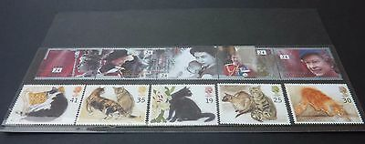 Cats Royal Mail Mint Stamps + Fortieth Anniversary of the Accession