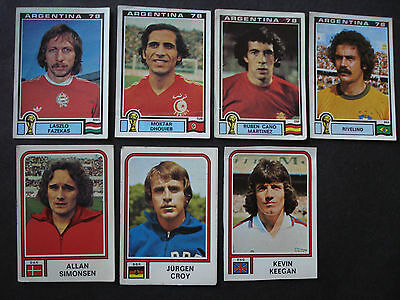 Lot 7 Stickers  Panini World Cup Mundial Argentina 78  Unused