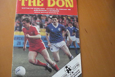 Aberdeen V Dundee                            Scottish Cup                19/2/83