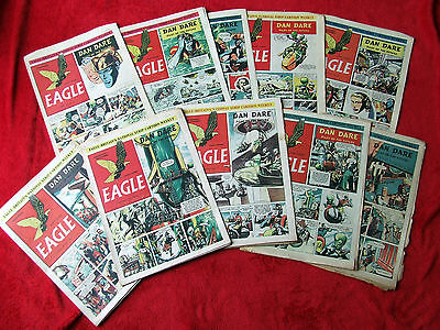 Eagle comics Collection of 10 early. vol.2 numbers 1- 10. 1951 Dan Dare