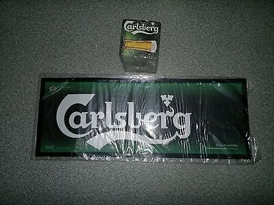 Carlsberg Bar Runner Rubber Backed New with 100 coasters