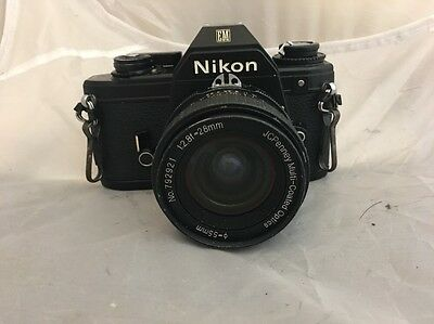 Nikon Em With 28mm f1.8 Lens VGC w/case