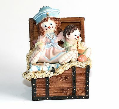 Regency Fine Arts Collectable Rag Dolls Out Of The Chest Figurine - 1999