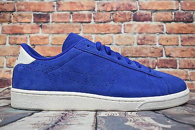 Nike Tennis Classic CS Suede Trainers - Blue - Mens Size 12 - New With Defect