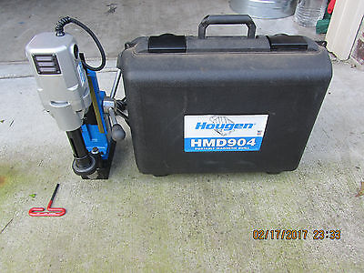 Hougen HMD904 Portable Magnetic Drill USA MADE USED VERY FEW TIMES,BEAUTIFUL