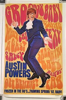 AUSTIN POWERS Advance one sheet Original Theatre Movie Poster 27 x 40 rolled